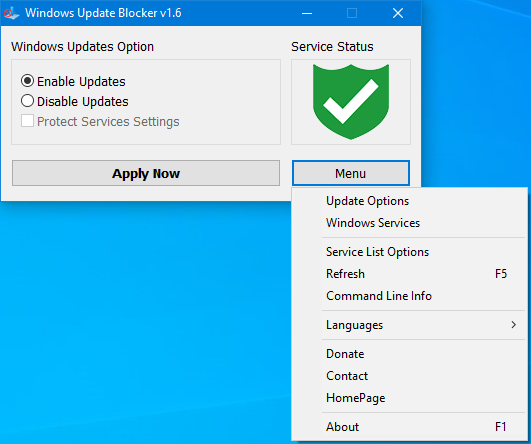 windows10禁用更新工具 wub.exe